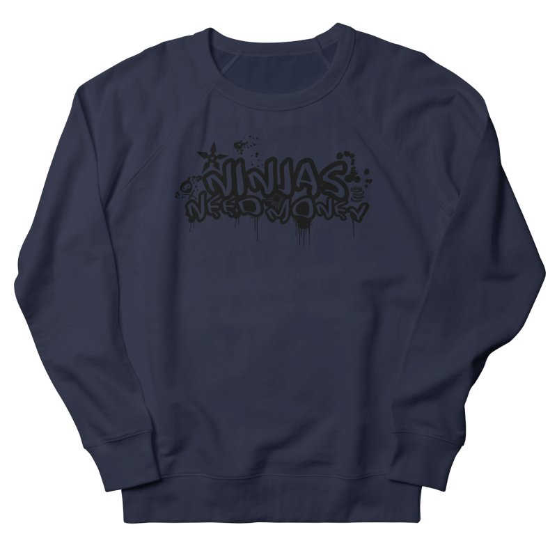 URBAN NINJA BLACK Men's French Terry Sweatshirt by Ninjas Need Money's Artist Shop