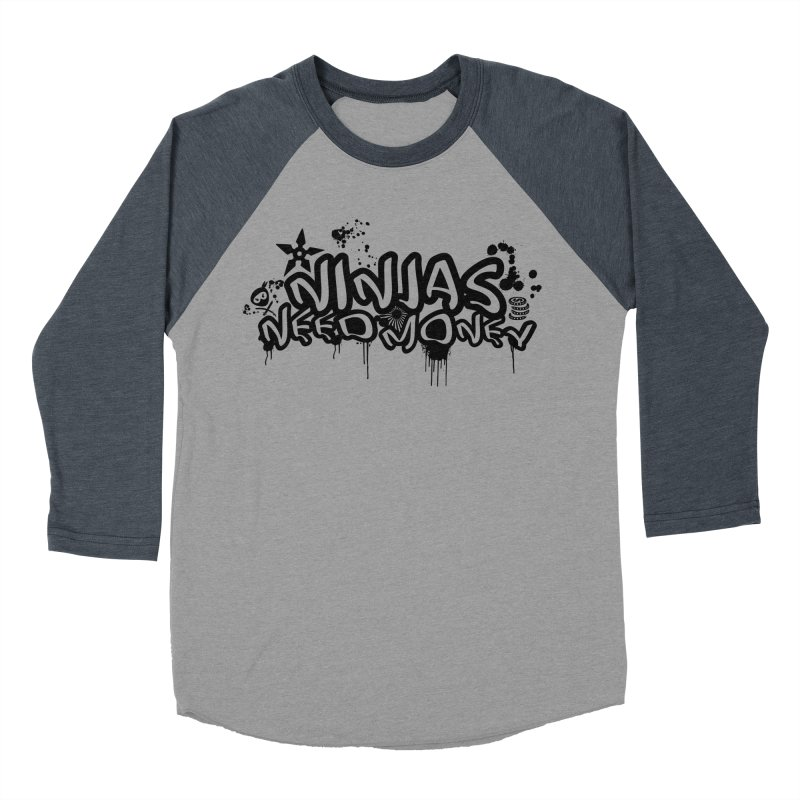 URBAN NINJA BLACK Men's Baseball Triblend Longsleeve T-Shirt by Ninjas Need Money's Artist Shop