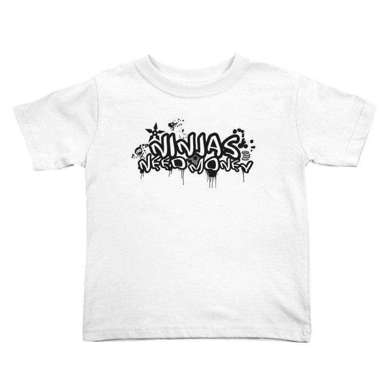 URBAN NINJA BLACK Kids Toddler T-Shirt by Ninjas Need Money's Artist Shop