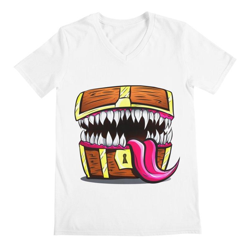 Mimic Monster!  Men's V-Neck by Nocturnal Culture