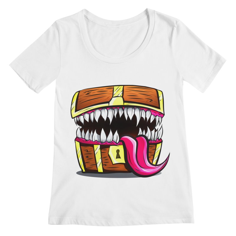 Mimic Monster!  Women's Regular Scoop Neck by Nocturnal Culture