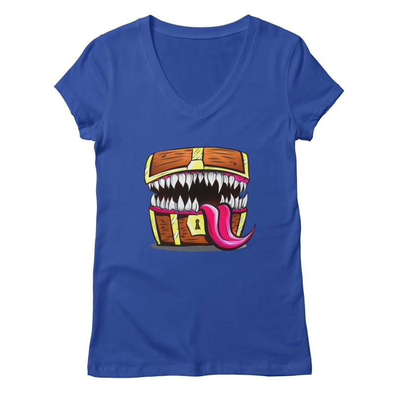 Mimic Monster!  Women's V-Neck by Nocturnal Culture