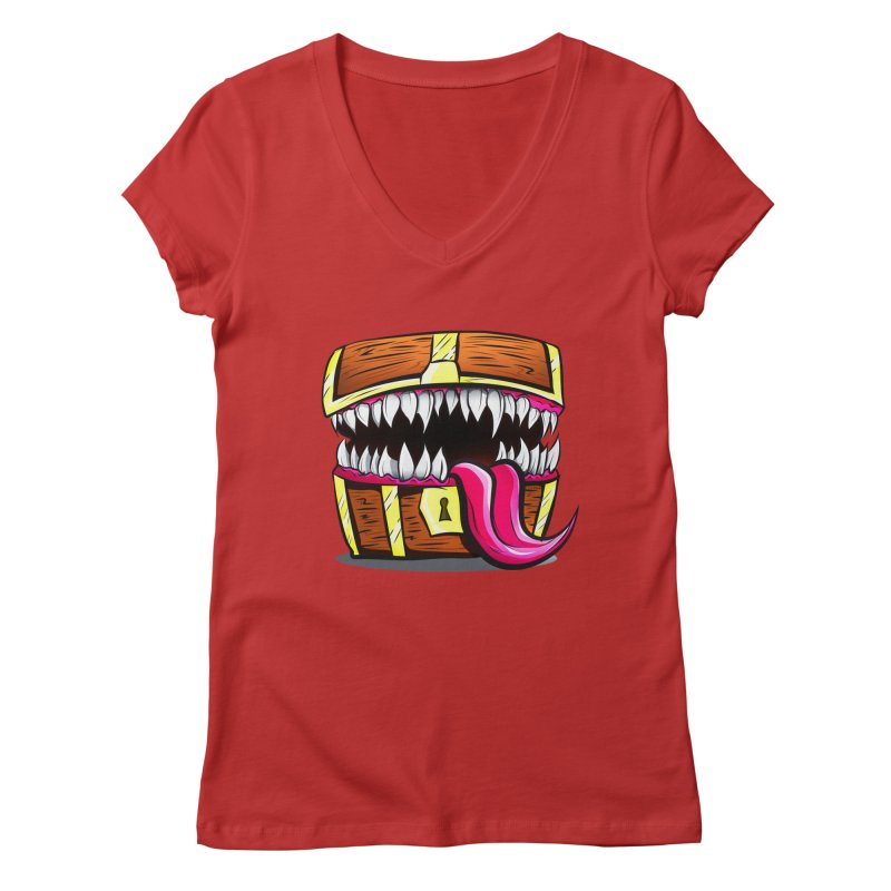 Mimic Monster!  Women's Regular V-Neck by Nocturnal Culture