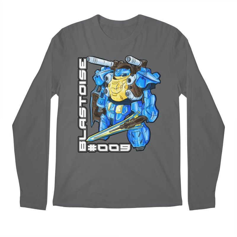 Blastoise Gundam Crossover Men's Longsleeve T-Shirt by Nocturnal Culture