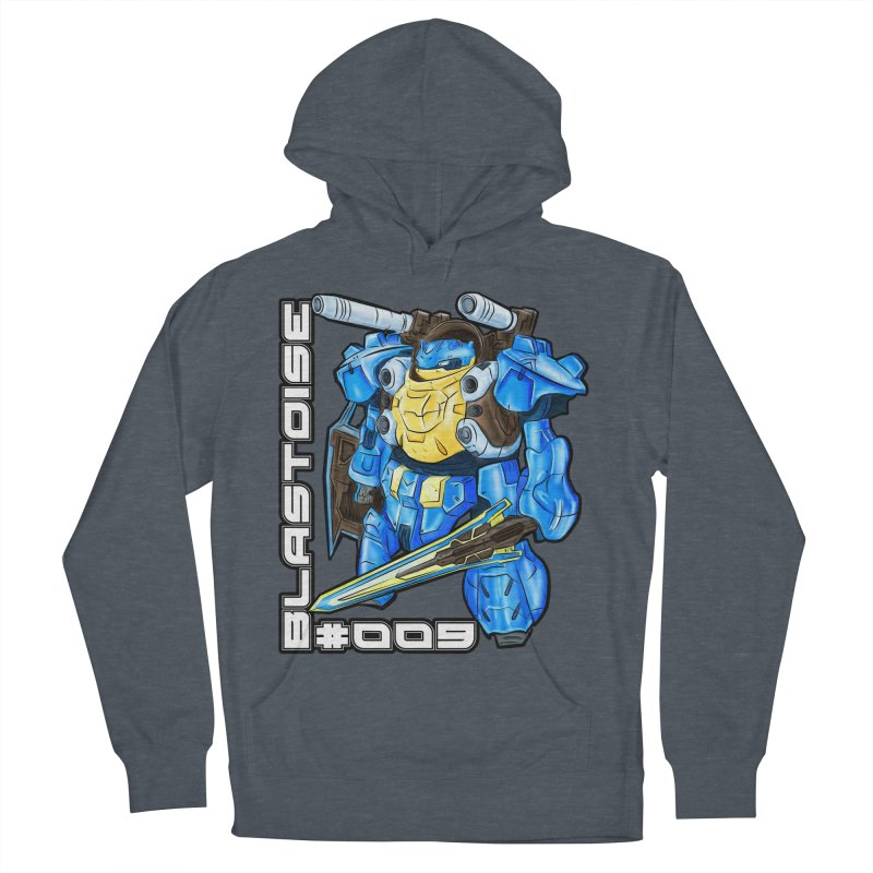 Blastoise Gundam Crossover Men's French Terry Pullover Hoody by Nocturnal Culture