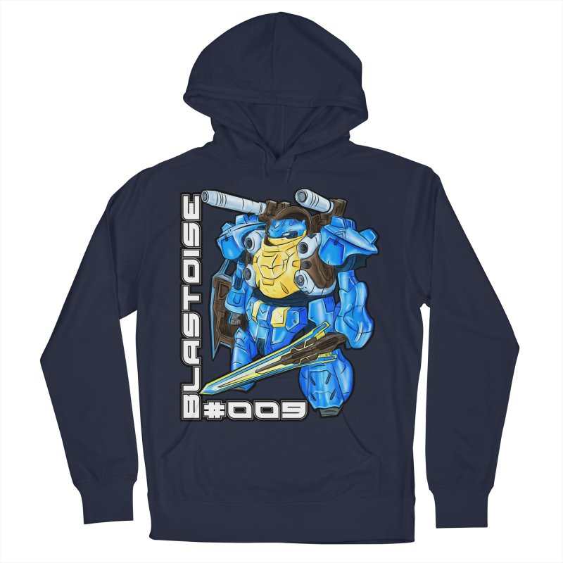 Blastoise Gundam Crossover in Men's French Terry Pullover Hoody Navy by Nocturnal Culture