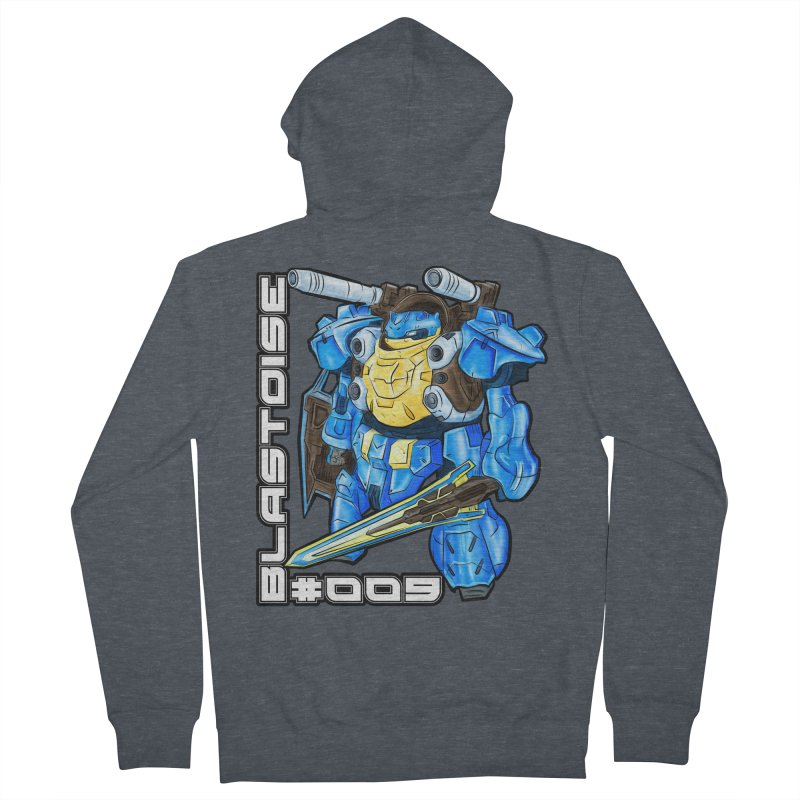Blastoise Gundam Crossover Women's French Terry Zip-Up Hoody by Nocturnal Culture