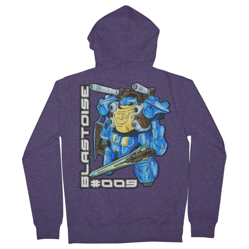 Blastoise Gundam Crossover Men's French Terry Zip-Up Hoody by Nocturnal Culture