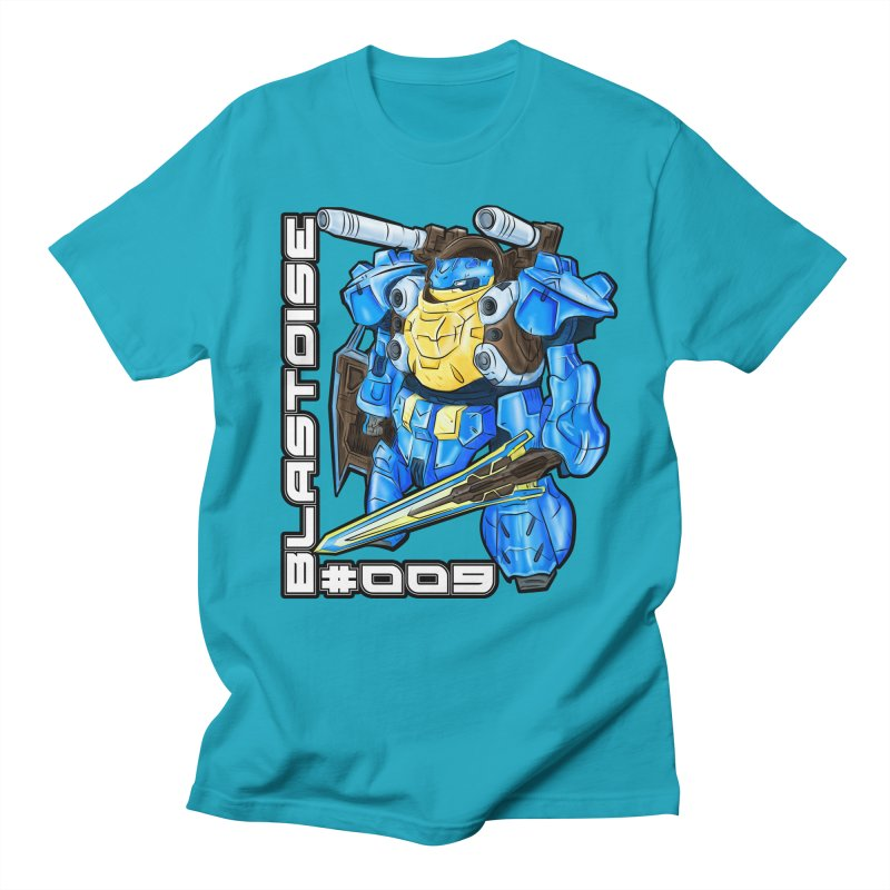 Blastoise Gundam Crossover Men's Regular T-Shirt by Nocturnal Culture