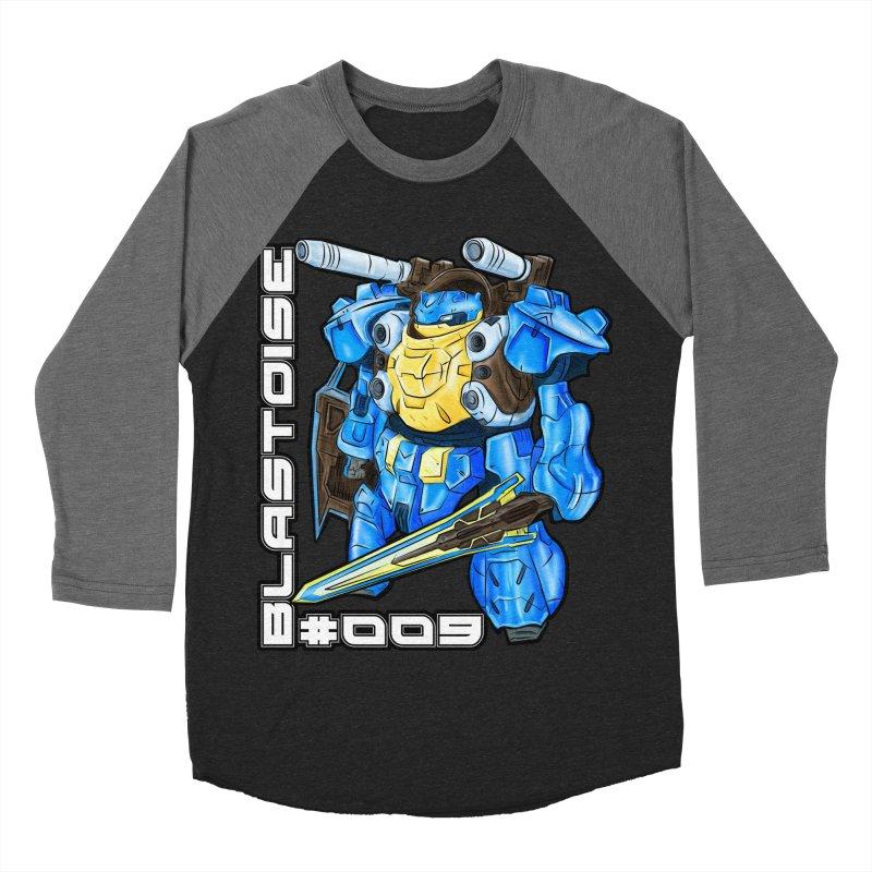 Blastoise Gundam Crossover Women's Baseball Triblend Longsleeve T-Shirt by Nocturnal Culture