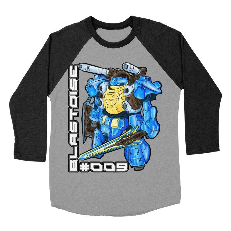Blastoise Gundam Crossover Men's Baseball Triblend Longsleeve T-Shirt by Nocturnal Culture