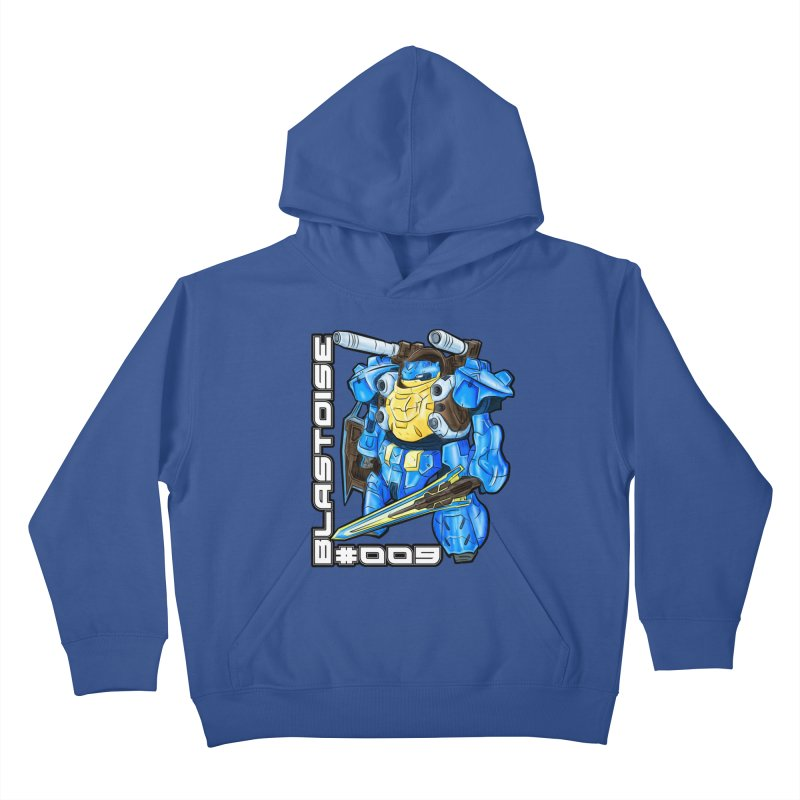 Blastoise Gundam Crossover Kids Pullover Hoody by Nocturnal Culture