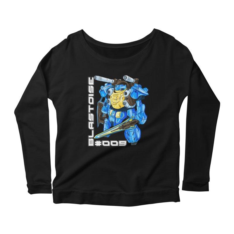 Blastoise Gundam Crossover Women's Scoop Neck Longsleeve T-Shirt by Nocturnal Culture
