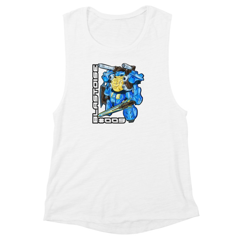 Blastoise Gundam Crossover Women's Muscle Tank by Nocturnal Culture