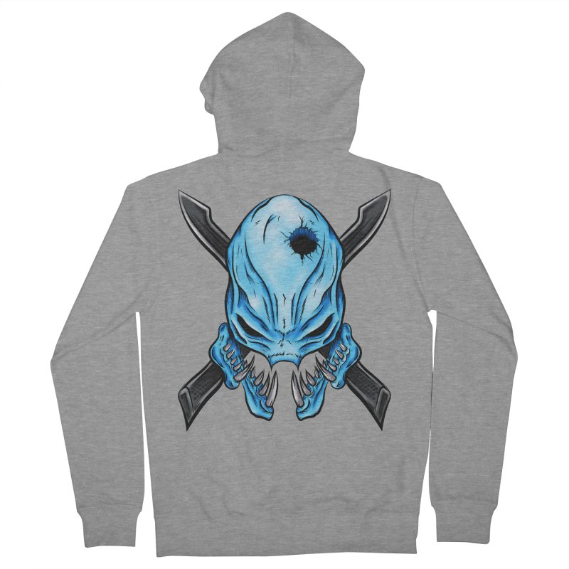 Halo Elite Skull Men's French Terry Zip-Up Hoody by Nocturnal Culture