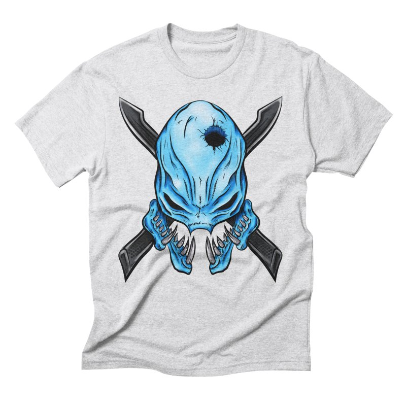 Halo Elite Skull Men's Triblend T-Shirt by Nocturnal Culture