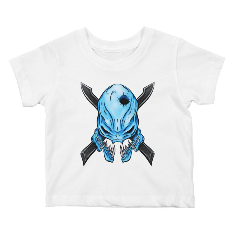 Halo Elite Skull Kids Baby T-Shirt by Nocturnal Culture