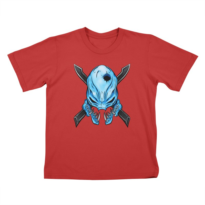 Halo Elite Skull Kids T-Shirt by Nocturnal Culture