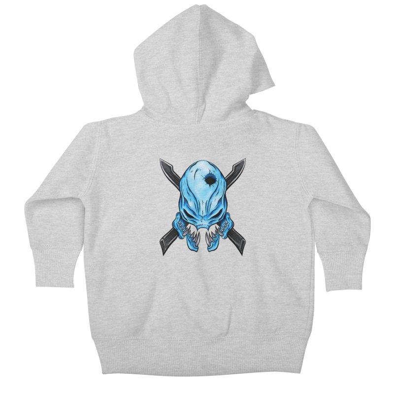 Halo Elite Skull Kids Baby Zip-Up Hoody by Nocturnal Culture