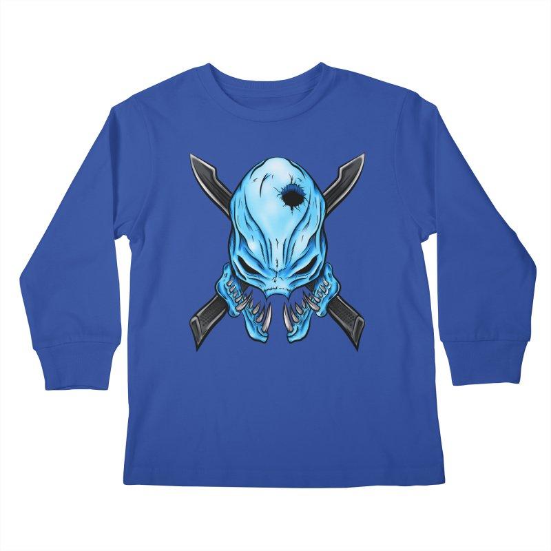Halo Elite Skull Kids Longsleeve T-Shirt by Nocturnal Culture