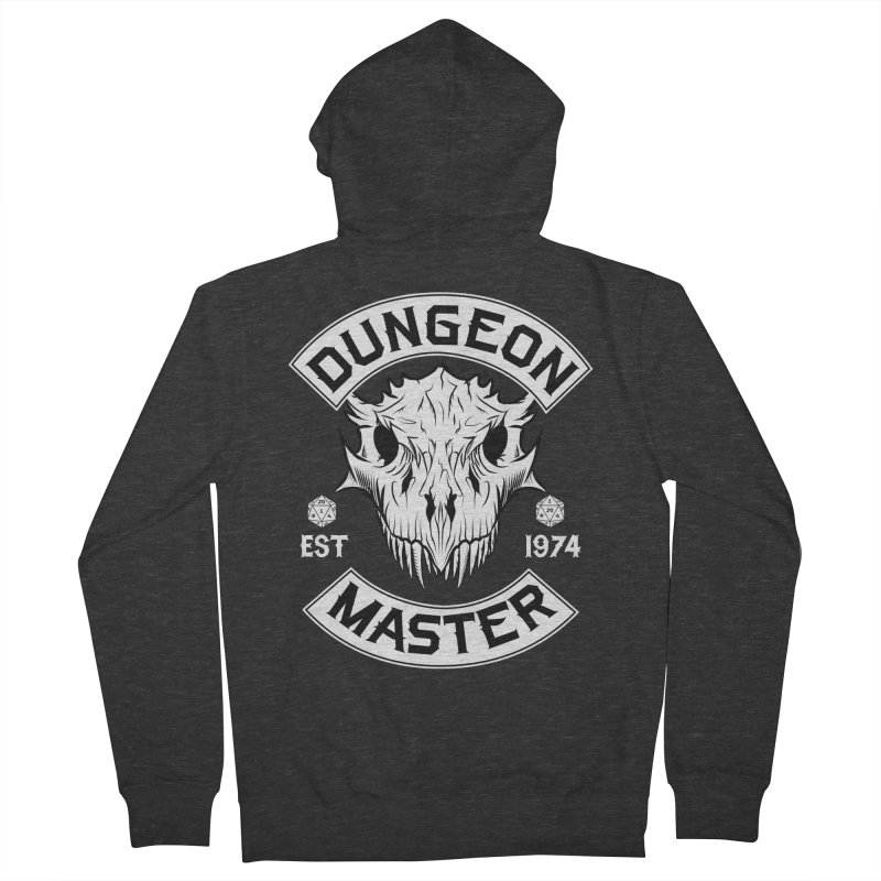 Dungeon Master Est 1974 Women's French Terry Zip-Up Hoody by Nocturnal Culture
