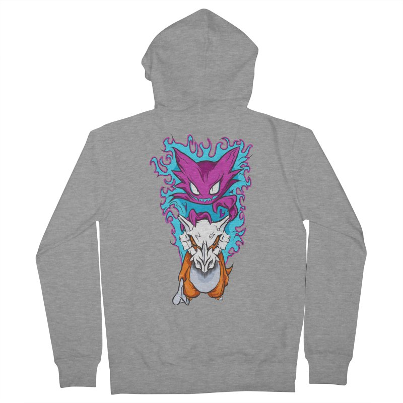 Cubone Vs Haunter  Women's French Terry Zip-Up Hoody by Nocturnal Culture