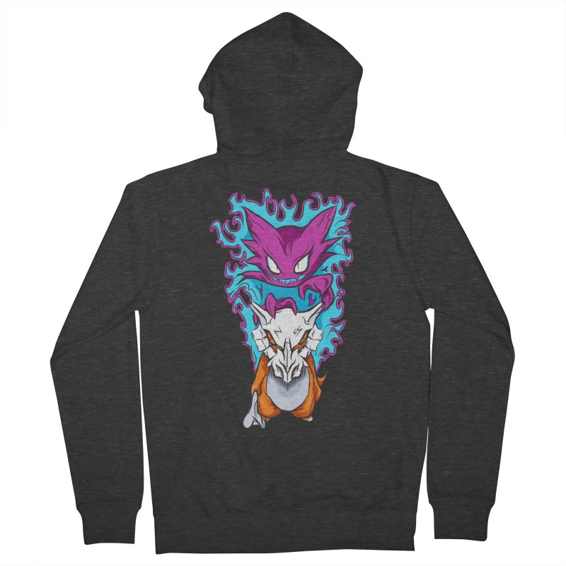 Cubone Vs Haunter  Men's French Terry Zip-Up Hoody by Nocturnal Culture