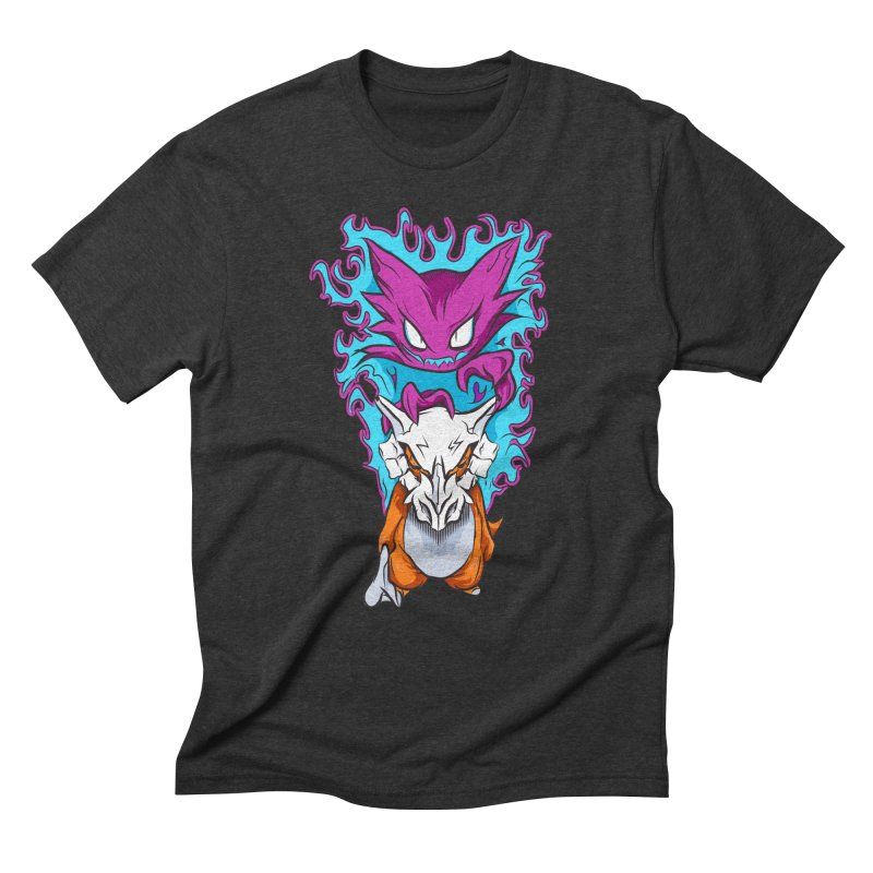 Cubone Vs Haunter  Men's Triblend T-Shirt by Nocturnal Culture