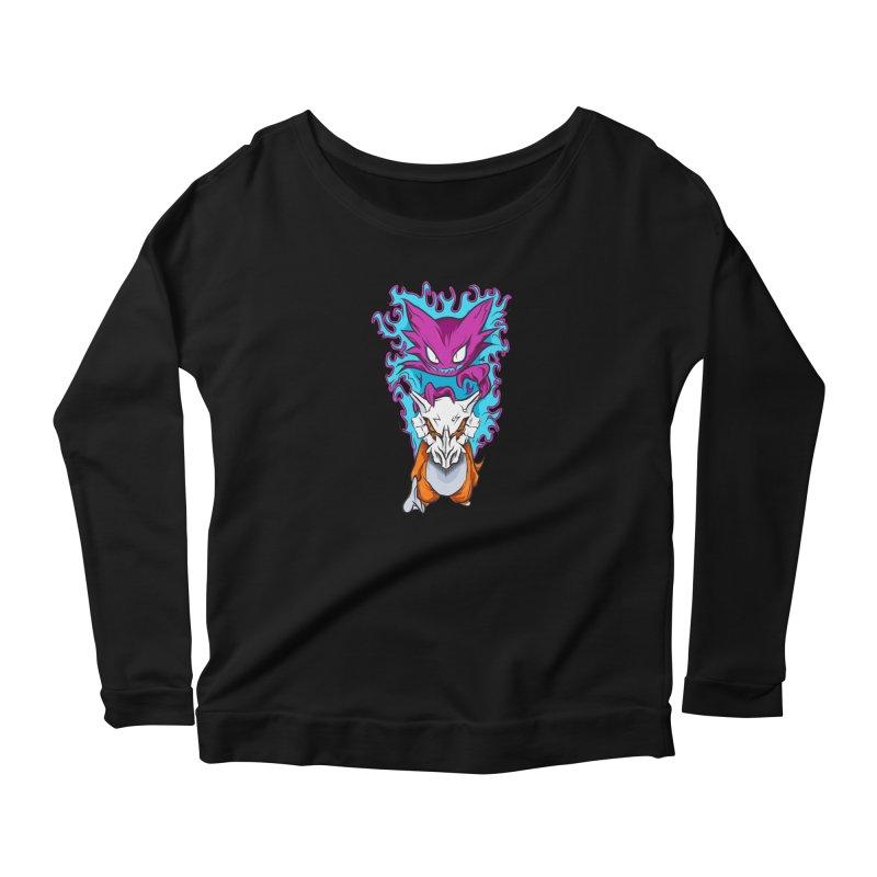 Cubone Vs Haunter  Women's Longsleeve T-Shirt by Nocturnal Culture