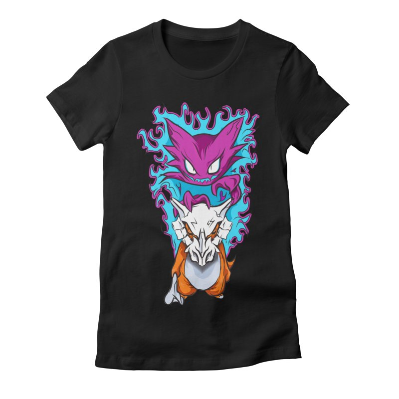 Cubone Vs Haunter  Women's Fitted T-Shirt by Nocturnal Culture