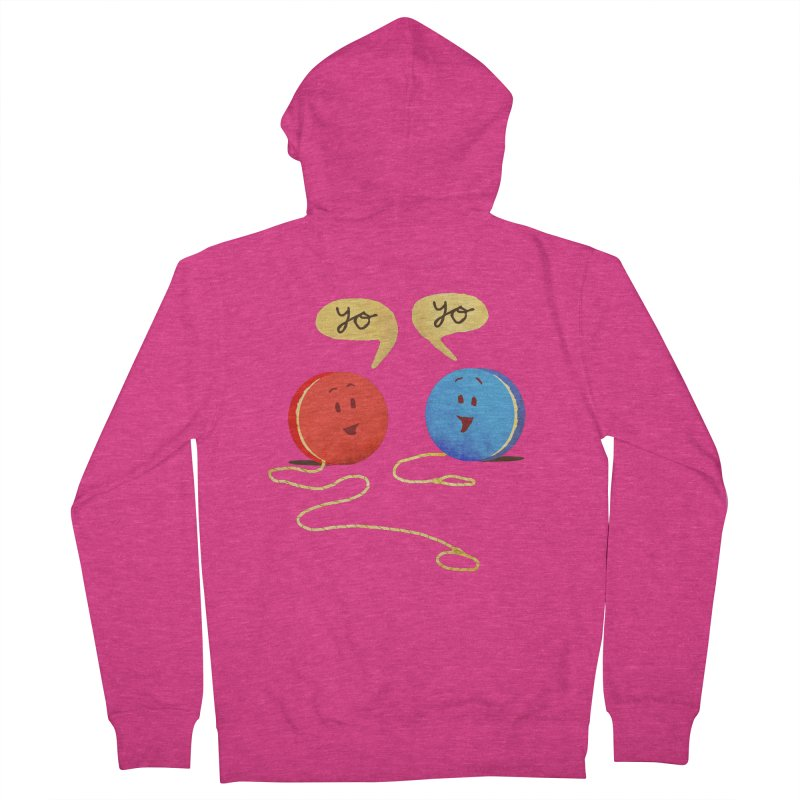 YO Women's French Terry Zip-Up Hoody by Nohbody's Artist Shop