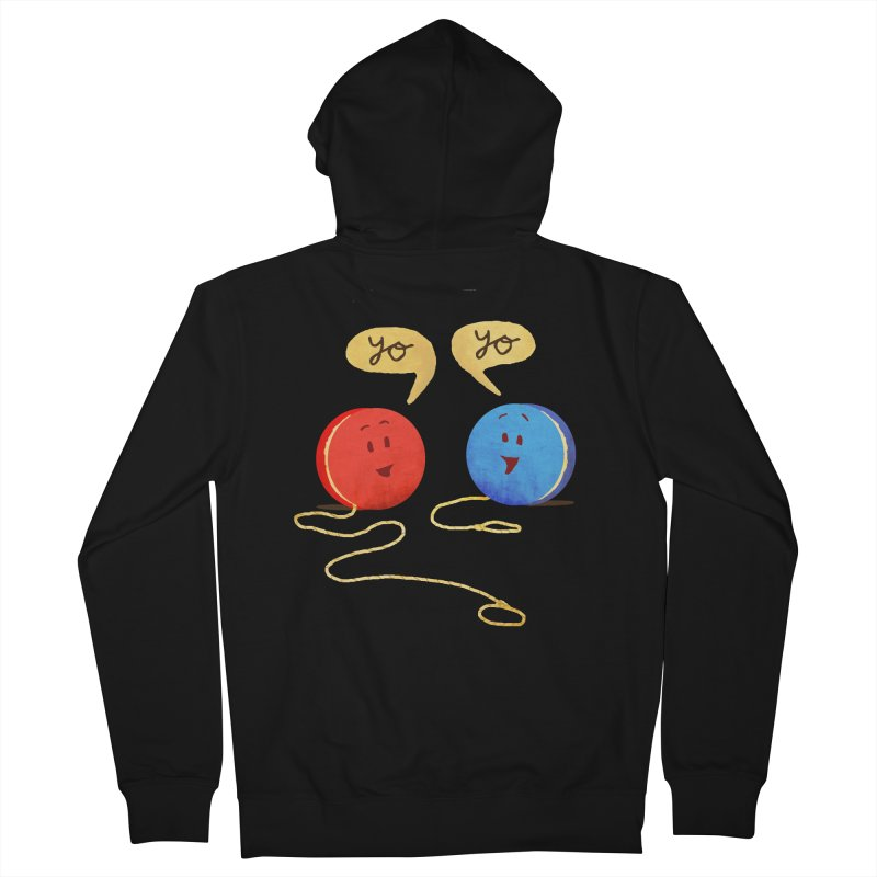 YO Men's French Terry Zip-Up Hoody by Nohbody's Artist Shop