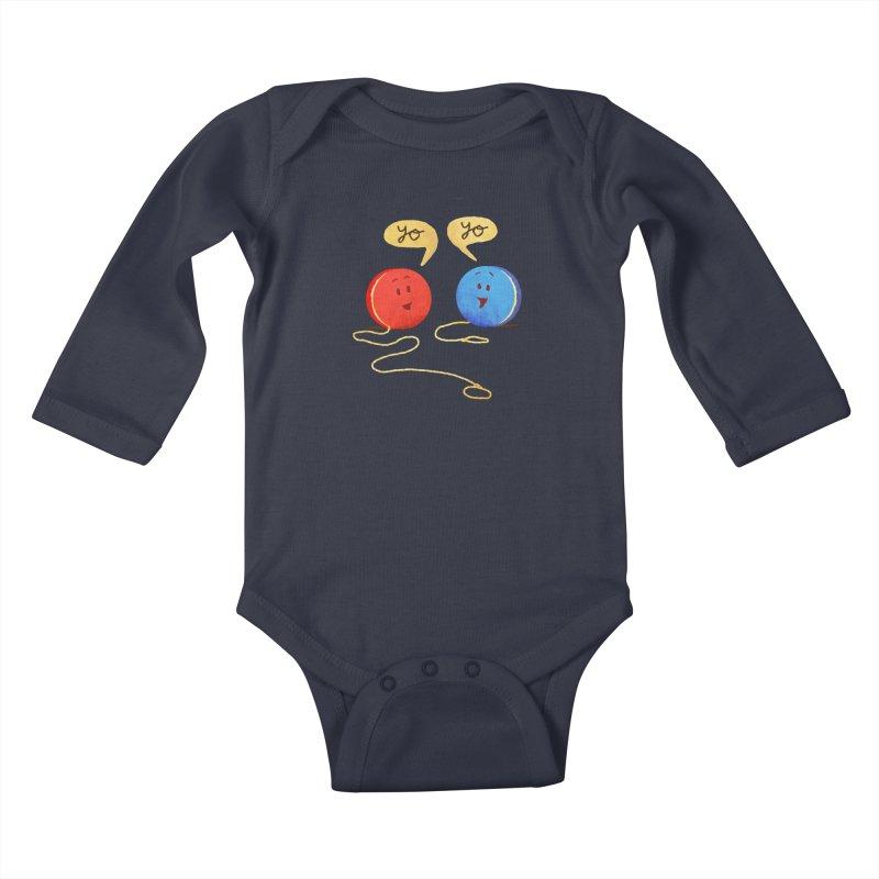 YO Kids Baby Longsleeve Bodysuit by Nohbody's Artist Shop