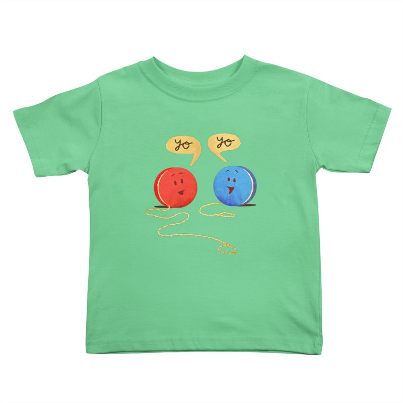 YO Kids Toddler T-Shirt by Nohbody's Artist Shop