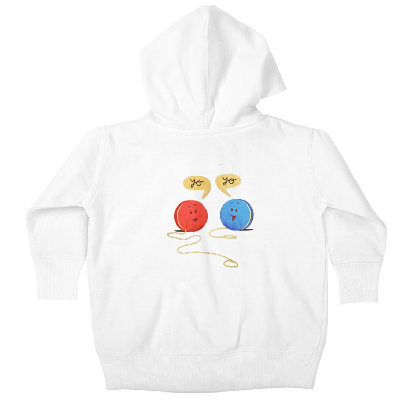 YO Kids Baby Zip-Up Hoody by Nohbody's Artist Shop