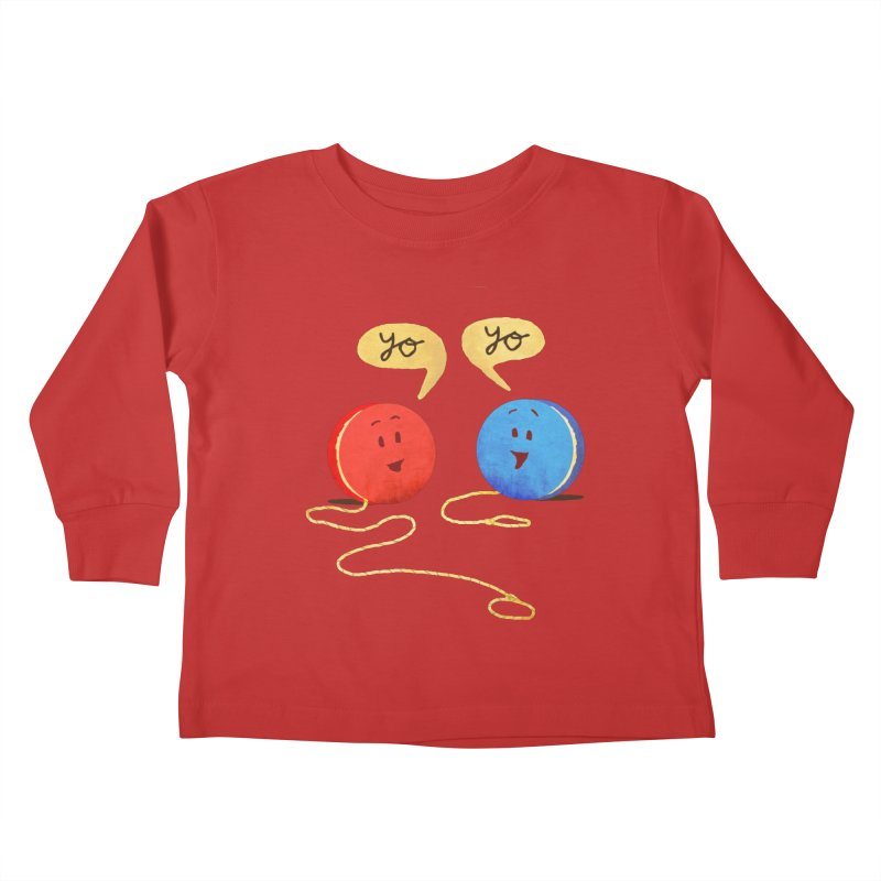 YO Kids Toddler Longsleeve T-Shirt by Nohbody's Artist Shop