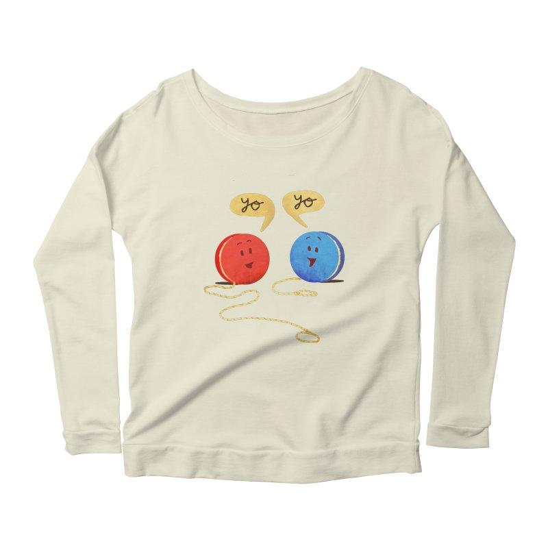 YO Women's Scoop Neck Longsleeve T-Shirt by Nohbody's Artist Shop