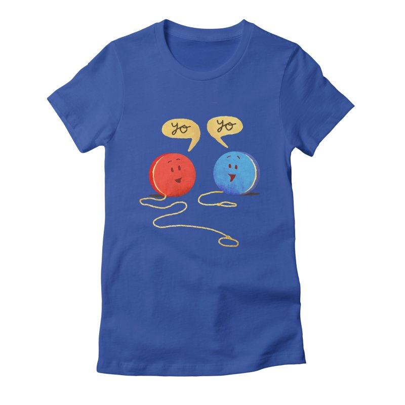 YO Women's Fitted T-Shirt by Nohbody's Artist Shop