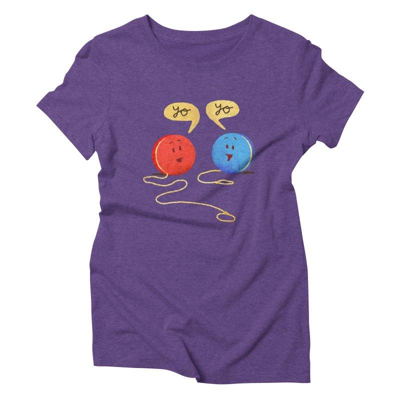 YO Women's Triblend T-shirt by Nohbody's Artist Shop