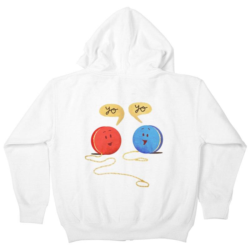 YO Kids Zip-Up Hoody by Nohbody's Artist Shop