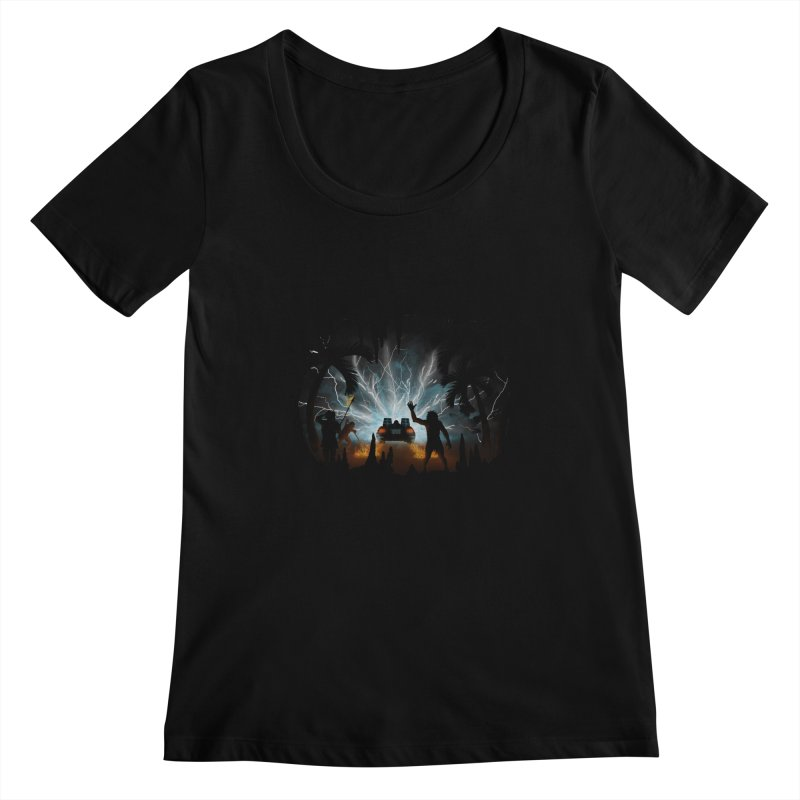 We Didn't Start The Fire Women's Scoopneck by Nohbody's Artist Shop