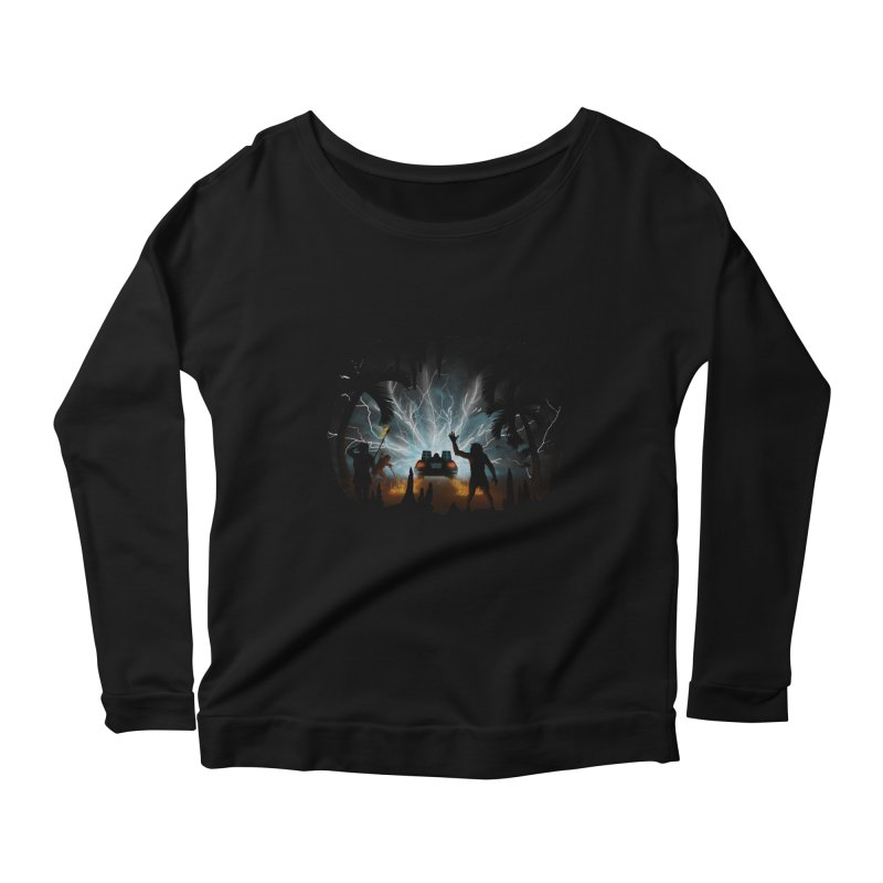 We Didn't Start The Fire Women's Longsleeve Scoopneck  by Nohbody's Artist Shop