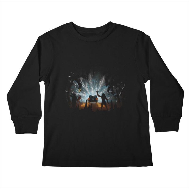 We Didn't Start The Fire Kids Longsleeve T-Shirt by Nohbody's Artist Shop