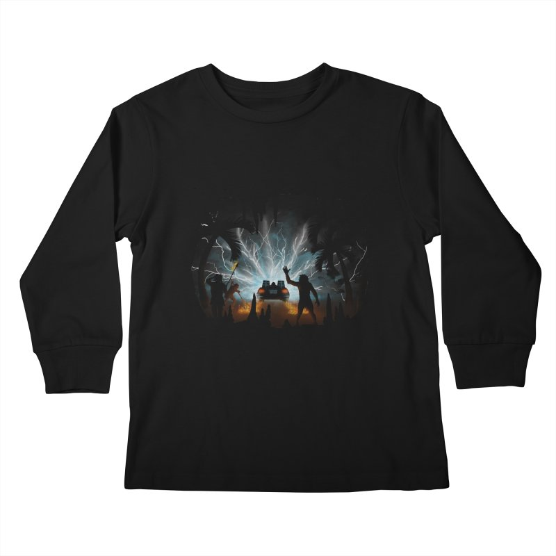 We Didn't Start The Fire Kids Longsleeve T-Shirt by Nohbody's Artist Shop