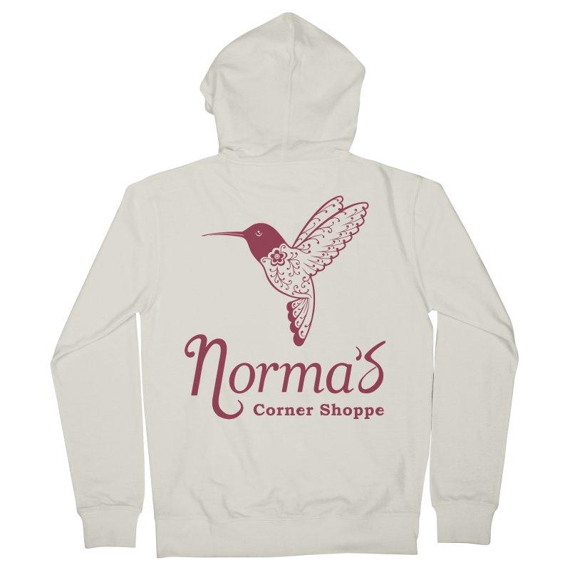 Norma's Hummingbird Red Men's Zip-Up Hoody by Normascornershoppe's Artist Shop
