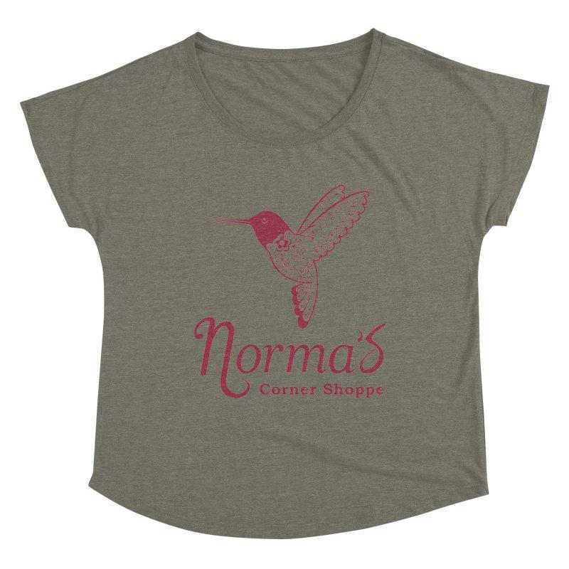 Norma's Hummingbird Red Women's Scoop Neck by Normascornershoppe's Artist Shop
