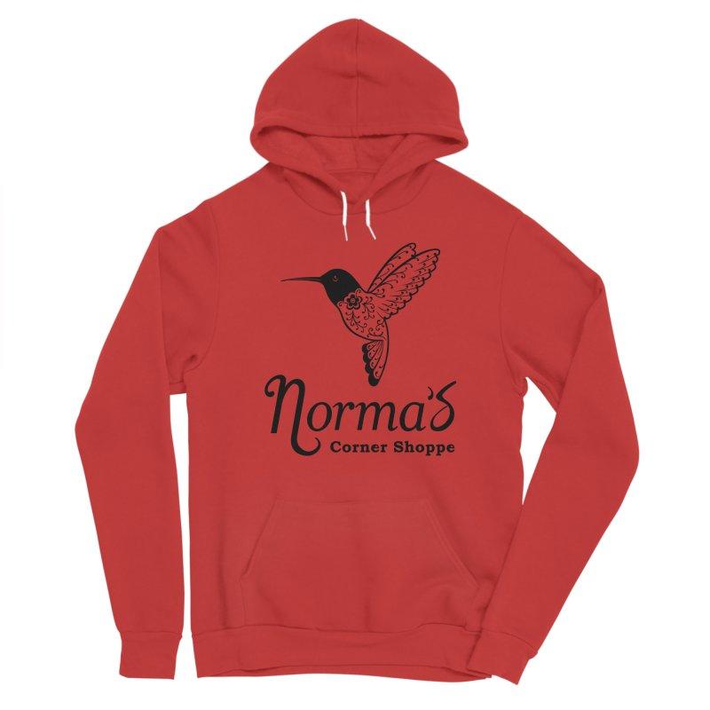 Norma's hummingbird Black Men's Pullover Hoody by Normascornershoppe's Artist Shop
