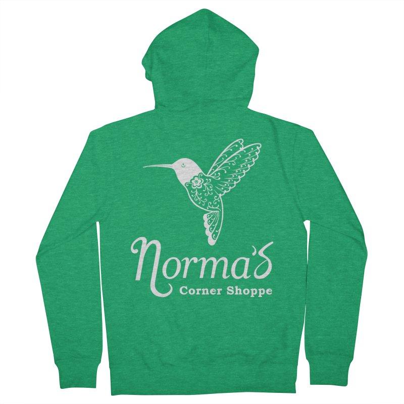 Norma's Hummingbird White Men's Zip-Up Hoody by Normascornershoppe's Artist Shop