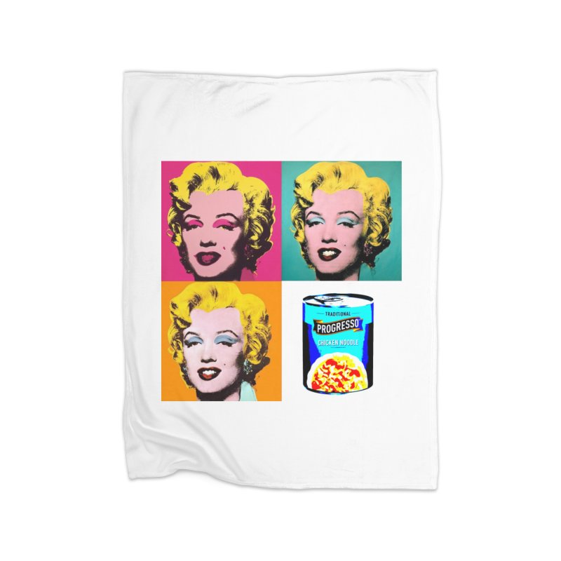 Pop Art Progress Home Fleece Blanket Blanket by Not Bad Tees