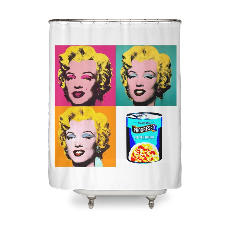 Pop Art Progress Home Shower Curtain by Not Bad Tees
